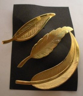 Vintage lot of 3 Leaf Brooches/Pin