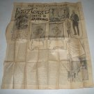 Vintage Texas 1917 Newspaper Clipping Flag of Cortez