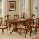 "7-PC-Napoleon Rectangular Dining Table Set- 40""X76""-with 17"" extension leaf. SKU:NA7-SBR"