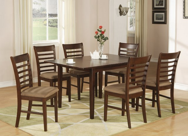 milan 5 pc rectangular dinette dining table set 36 x 54 with 12