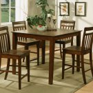 "East-West 5-PC Square Counter Height Table Dinette Set-Size: 42""x42"" in Espresso.  SKU:  EW5-ESP"