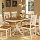 "7-PC Plainville Oval Dining Room Set Table + 6 Chairs - Size: 42""x78"" in Buttermilk SKU#: PL7-WHI"