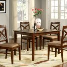 "Lisbon 5-PC Rectangular Dinette Kitchen Table Set-Size 36""x 48"".  In Mahogany.  SKU: LB5-MAH"