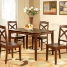 "Lisbon 5-PC Rectangular Dinette Kitchen Table Set-Size 36""x 48"".  In Espresso.  SKU: LB5-ESP"