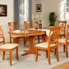 "Ellington 9-Pc Dining Room Table Set- 40""X82"" - extension leaf- in light cherry.  SKU: EL9-CHR"