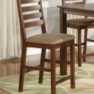 Set of 2  Cafe counter height stools with microfiber upholstered seat in Espresso finish.