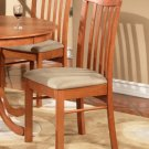Set of 2 Hartland dining room chairs with microfiber upholstered seat in Light Cherry finish.