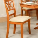 Set of 2 Elington dining room chairs with microfiber upholstered seat in Light Cherry finish.