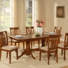 "5-PC-Naport Rectangular Dining Table Set- 40""X76""-with 17"" extension leaf.SKU: NAP5-SBR"