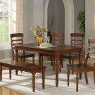"""Vintage 6-PC Rectangular Dinette Dining Set in Espresso-Table Size 36""""x60""""- SKU: VT6-ESP"""