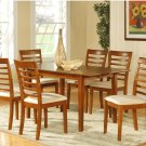 Picasso 5-PC Rectangular Dinette Dining Table Set-32&quot;x 60&quot; with 12&quot;extension leaf. SKU: PS5-SBR