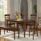 Vintage 7-PC Rectangular Dinette Dining Set in Espresso-Table Size 36&quot;x60&quot;- SKU: VT7-ESP