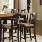 Set of 6 Chelsea counter height chairs with upholstered seat in Black finish