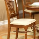 Set of 2 Plainville dining chairs with microfiber upholstered seat in Saddle Brown finish.