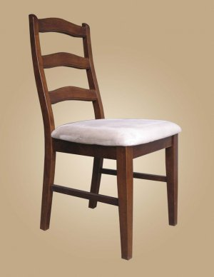 Set of 4 Henley dining room chairs with microfiber upholstered seat in Espresso & Cinamon finish.
