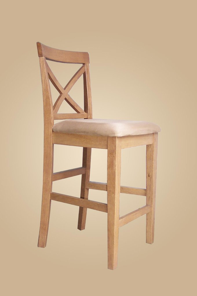 Counter Height X Back Chairs : Set of 6 sturdy counter height chairs, X-Back style stool with ...
