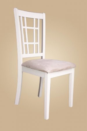 Set of 4 dining chairs in buttermilk finished, SKU: NC-WHI-C