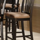 Set of 3 Chelsea counter height chairs with upholstered seat in Black finish