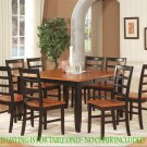 "Parfait Square Gathering Dining Table 54""x36""/54""x30H. Extension leaf. SKU: PARFAIT-T-BLK"