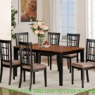 Nicoli Dinette Kitchen Dining Table Only 36X66X30&quot; in Black & Saddle Brown. SKU: NT-BLK-T