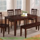 1 DINETTE KITCHEN DINING TABLE WITH SOLID TOP IN MAHOGANY, NO CHAIR INCLUDED, SKU: EWCDT-MAH-S