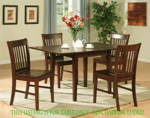 """RECTANGULAR DINETTE KITCHEN TABLE 32x54 w/ 12"""" LEAF IN MAHOGANY, CHAIR NOT INCLUDED. SKU: NFT-MAH-T"""