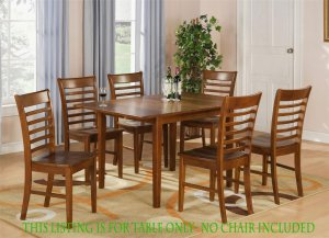 """MILAN RECTANGULAR KITCHEN TABLE 36x54 with 12"""" LEAF IN MAHOGANY, CHAIR NOT INCLUDED. SKU: MT-SBR-T"""