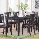 "RECTANGULAR DINETTE KITCHEN DINING TABLE 36""x60"" WITHOUT CHAIR IN BLACK FINISH. SKU: DU-BLK-T"