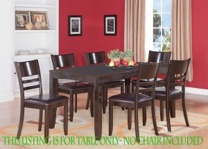 RECTANGULAR DINETTE KITCHEN DINING TABLE 36X66 WITHOUT CHAIRS IN CAPPUCCINO, SKU: LYT-CAP-T