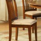 Set of 1 Portland slat back chair with microfiber upholstered in Saddle Brown, SKU: PC-SBR-C