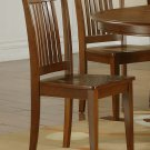 Set of 3 Portland chairs with plain wood seat in Saddle Brown, SKU: PC-SBR-W