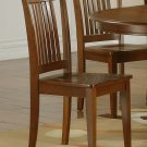 Set of 8 Portland chairs with plain wood seat in Saddle Brown, SKU: PC-SBR-W