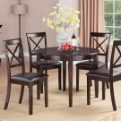 5-PC Dinette Table w/4 Faux Leather Seat Chairs in Cappuccino. SKU: B5-CAP-LC