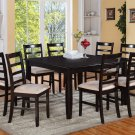 "9PC Square Dining Table 54x54x30"" with 8 Microfiber Upholstery Chairs in Cappuccino. SKU: FL9-CAP-C"