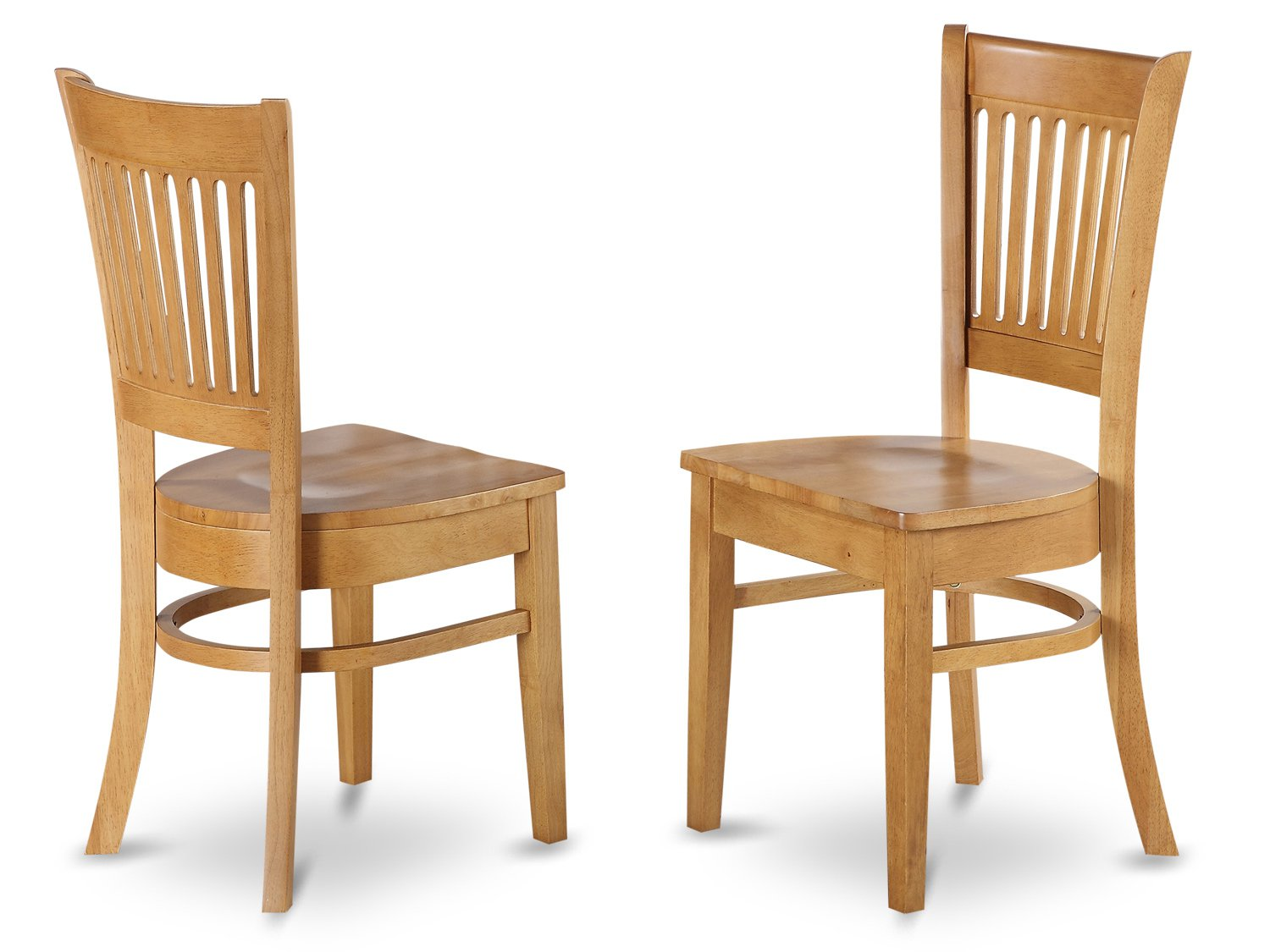 Set of vancouver dining room chairs with wooden seat in