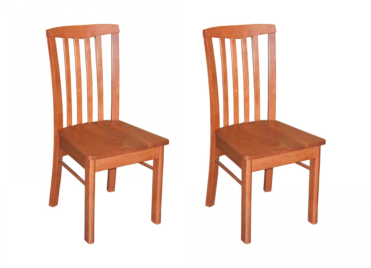 Set of 2 hartland dining room chairs with wood seat in for Cherry dining room chairs