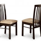 Set of 2 Hartland dining room chairs with microfiber upholstered seat in Walnut finish.