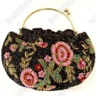 Hand-Beaded Floral Stitched Bag