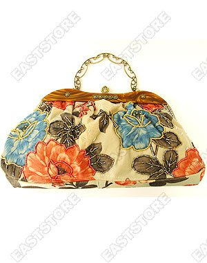 Chinese Hand Beaded Floral Handbag