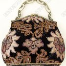 Vintage Floral Motif Beaded Purse/Hand Bag