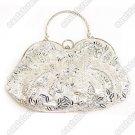 Silver Beaded Handbag