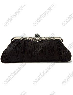 Pleated Satin Evening Bag