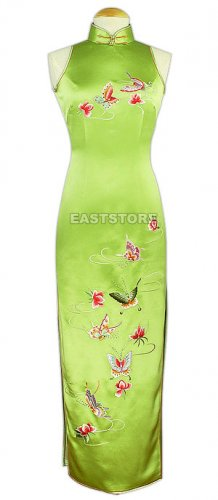 Stunning Butterfly Embroidered Silk Dress