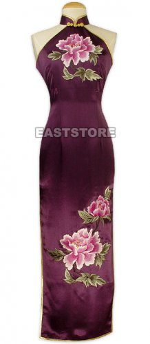 Hua Kai Fu Gui Embroidery Silk Dress