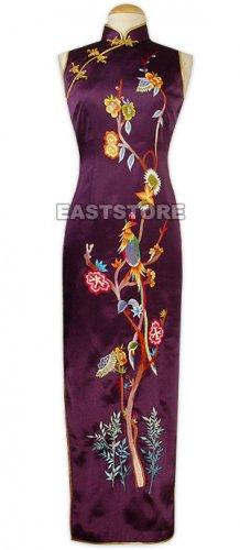 Xi Shang Mei Shao Embroidery Silk Cheongsam