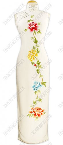 Graceful Peony Embroidered Cheongsam