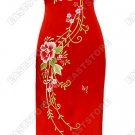 Eternal Floral Embroidery Silk Dress