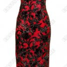 Floral Burn Out Velvet Cheongsam