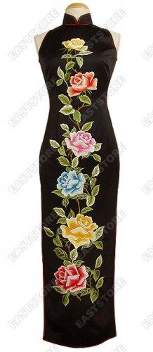 Royal Silk Peony Embroidery Cheongsam