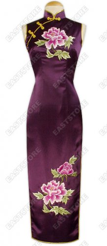 Gao Gui Embroidery Silk Dress